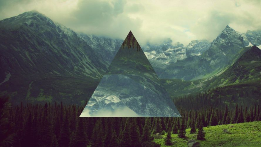 triangles manipulation hipster abstract wallpaper