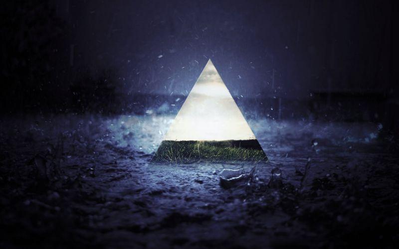 Triangle rain wallpaper