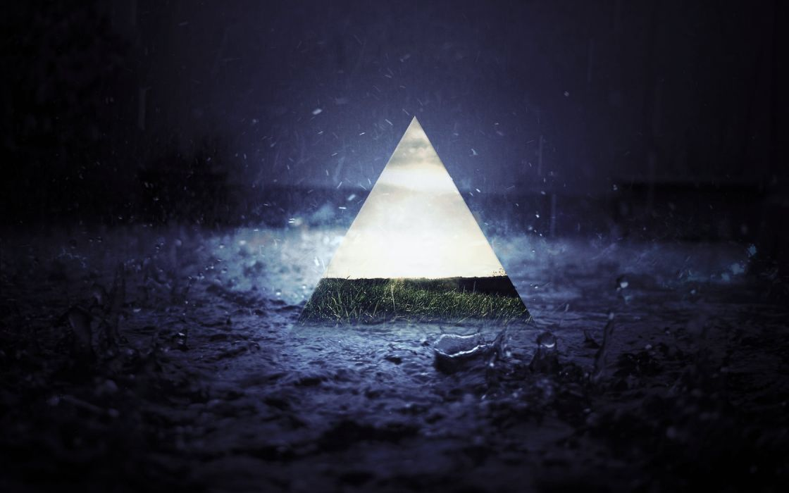 Triangle rain wallpaper