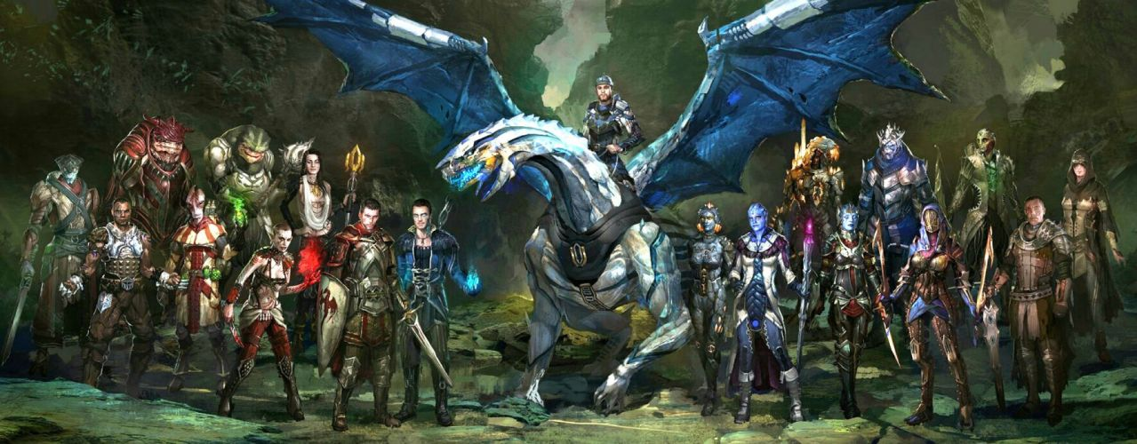 DRAGON AGE fantasy rpg origins inquisition warrior fighting action adventure wallpaper