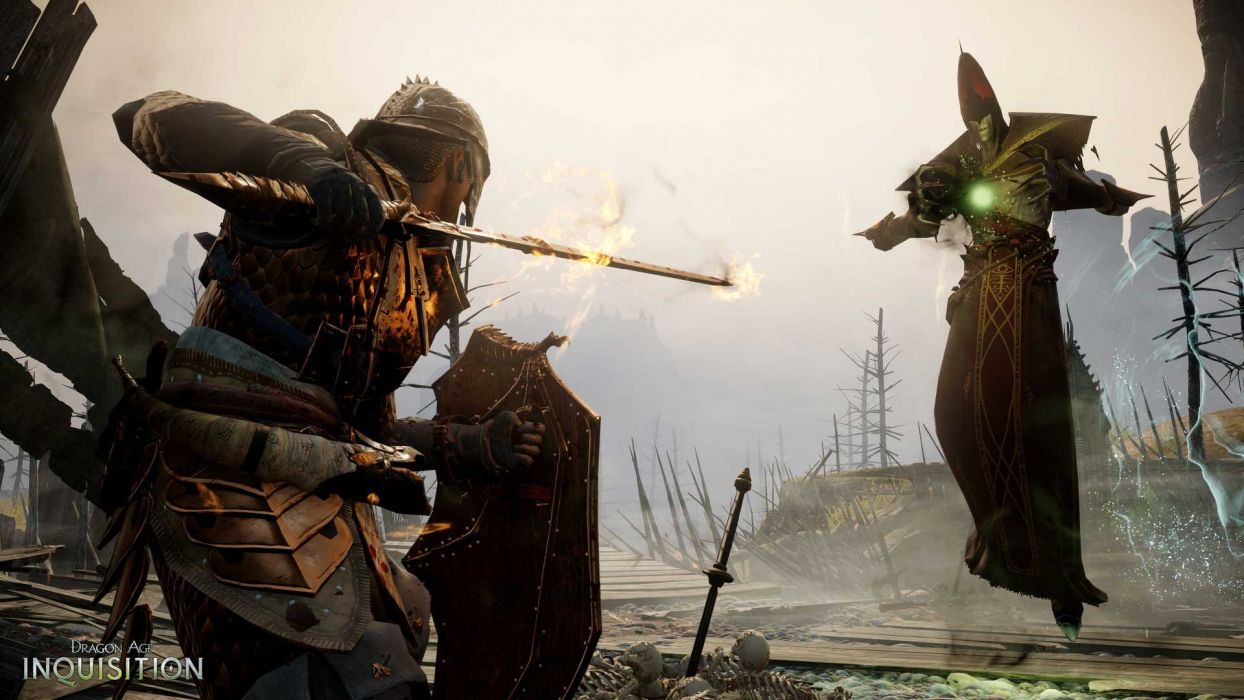 Dragon Age Fantasy Rpg Origins Inquisition Warrior Fighting Action