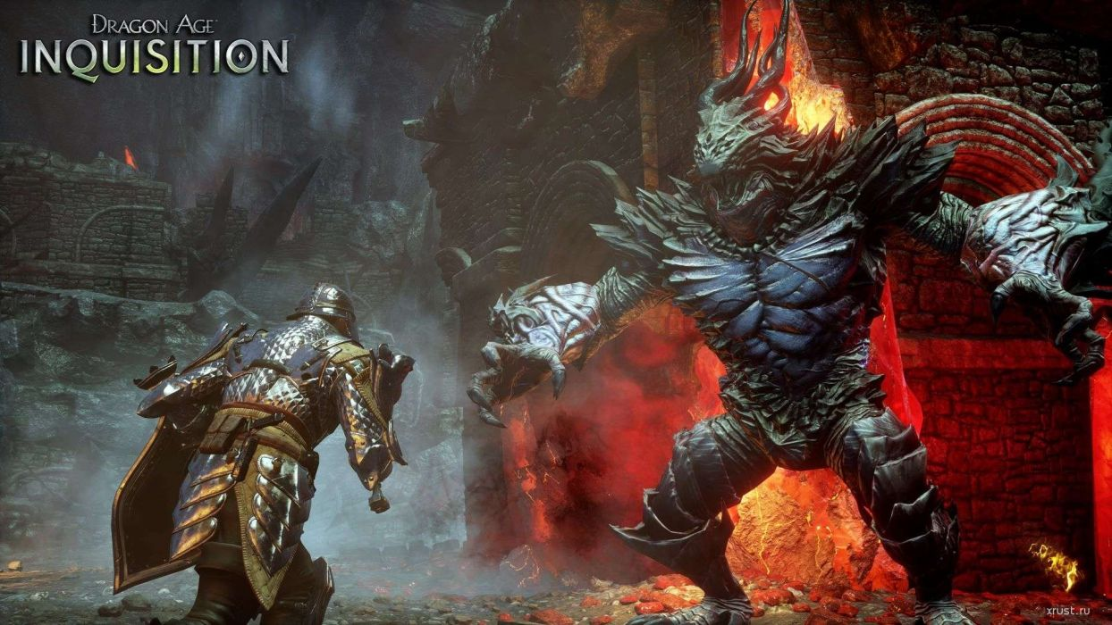 DRAGON AGE fantasy rpg origins inquisition warrior fighting action adventure poster wallpaper