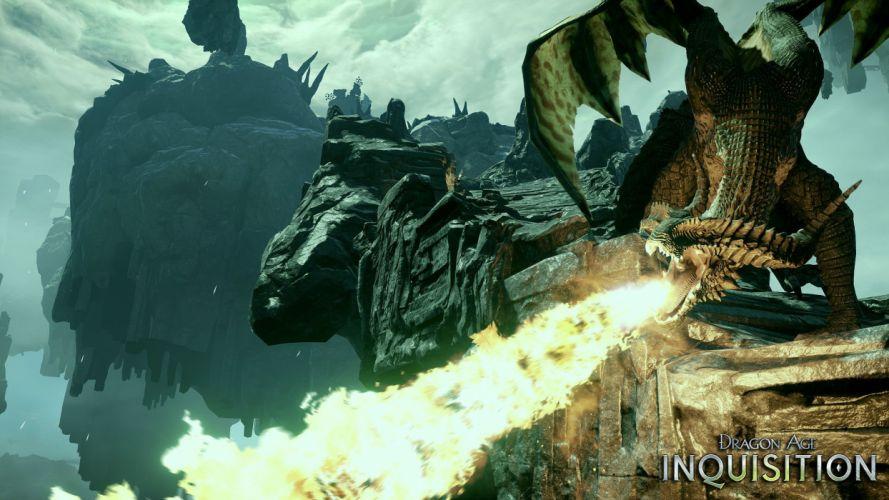 DRAGON AGE fantasy rpg origins inquisition warrior fighting action adventure poster wallpaper
