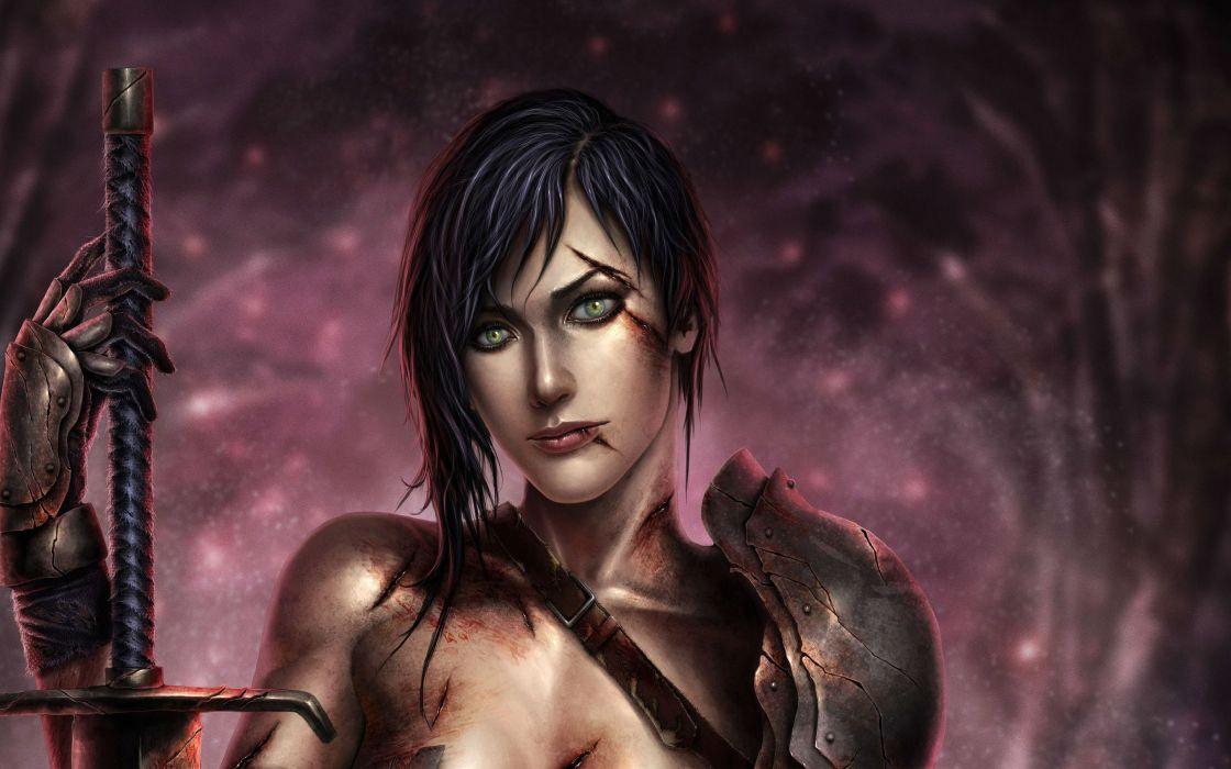 DRAGON AGE fantasy rpg origins inquisition warrior fighting action adventure wallpaper