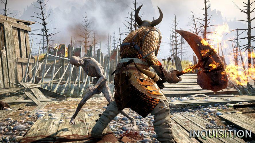 DRAGON AGE fantasy rpg origins inquisition warrior adventure action rpg poster wallpaper