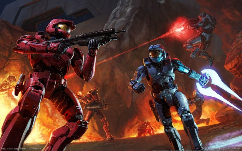 HALO shooter fps action fighting warrior sci-fi futuristic armor cyborg robot wallpaper