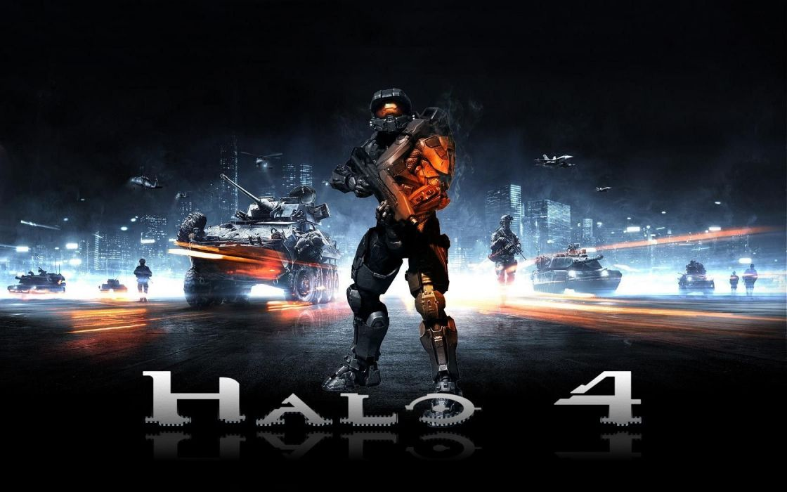 HALO shooter fps action fighting warrior sci-fi futuristic armor cyborg robot poster battlefield wallpaper