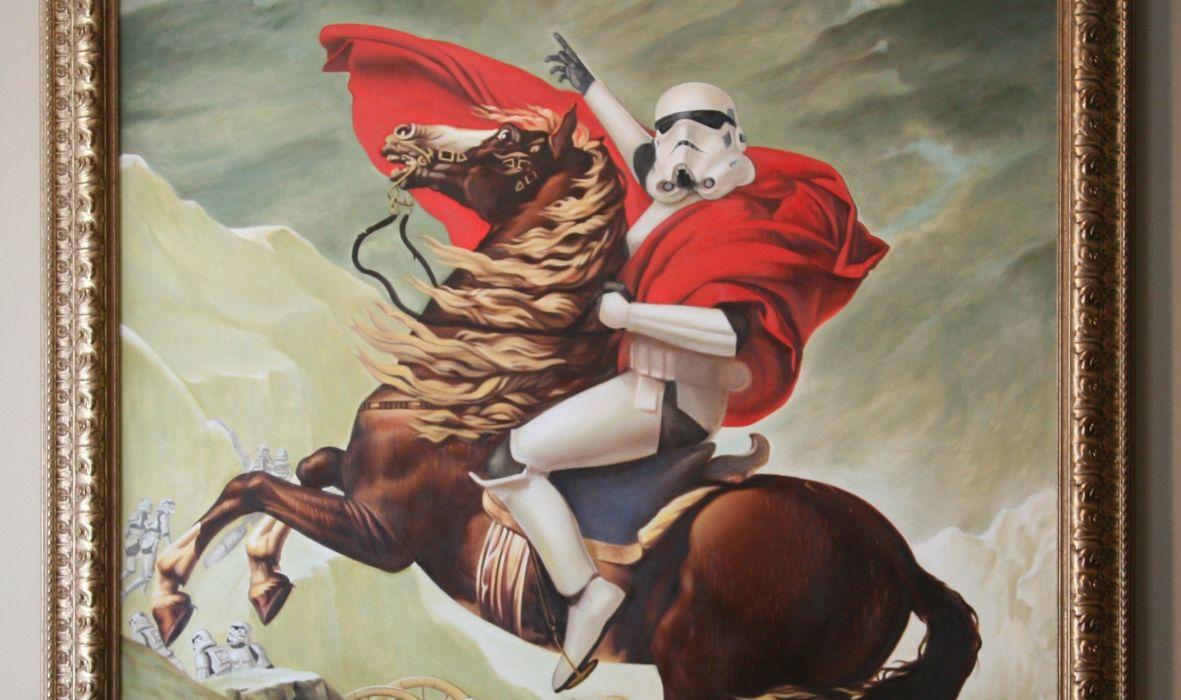 abstracto humos soldado imperial montado caballo wallpaper