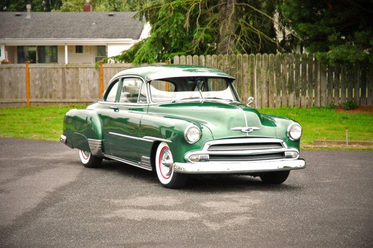 1951 Chevrolet Deluxe Coupe Custom Hotrod Hot Rod Old School USA 1500x1000-02 wallpaper