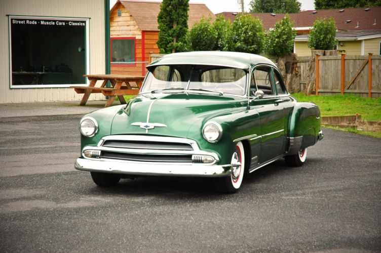 1951 Chevrolet Deluxe Coupe Custom Hotrod Hot Rod Old School USA 1500x1000-04 wallpaper