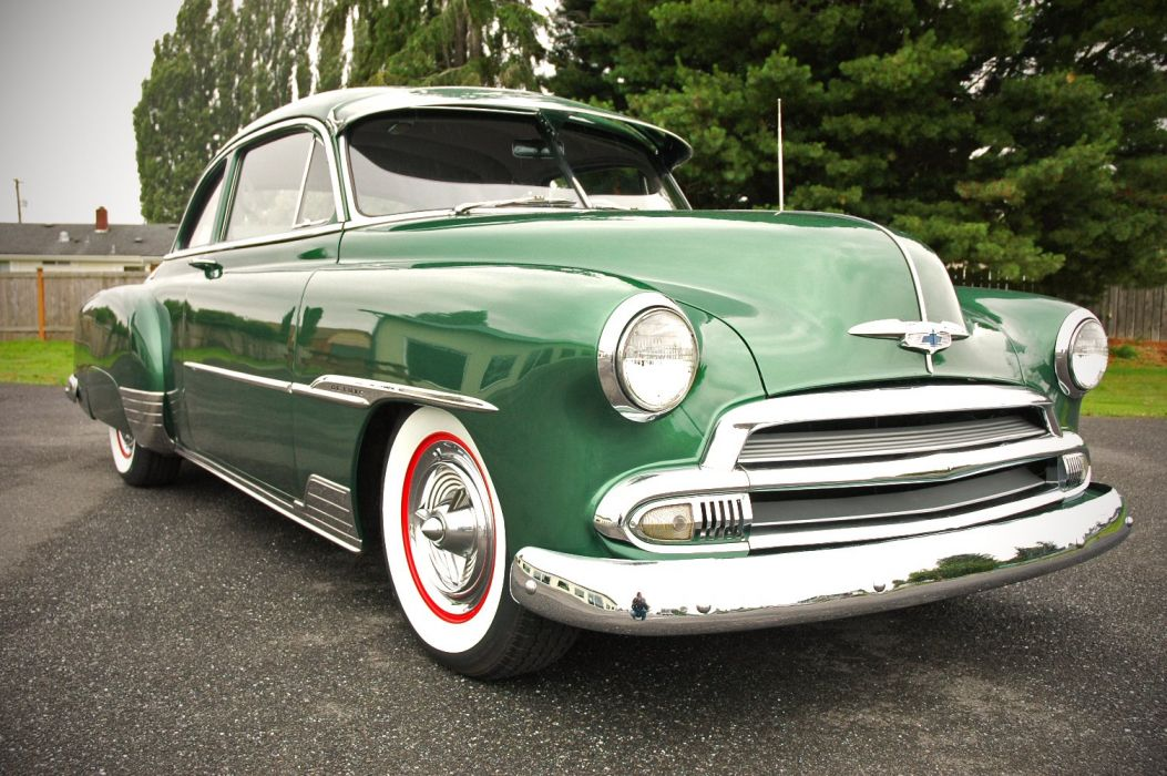 1951 Chevrolet Deluxe Coupe Custom Hotrod Hot Rod Old School USA 1500x1000-10 wallpaper