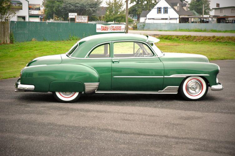 1951 Chevrolet Deluxe Coupe Custom Hotrod Hot Rod Old School USA 1500x1000-09 wallpaper