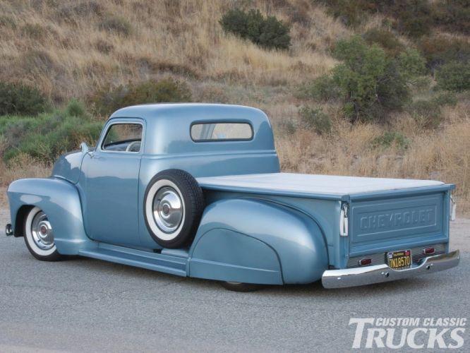 1951 Chevrolet 3100 Pickup Hotrod Hot Rod Chopped Custom Kustom Old School USA 1600x1200-06 wallpaper