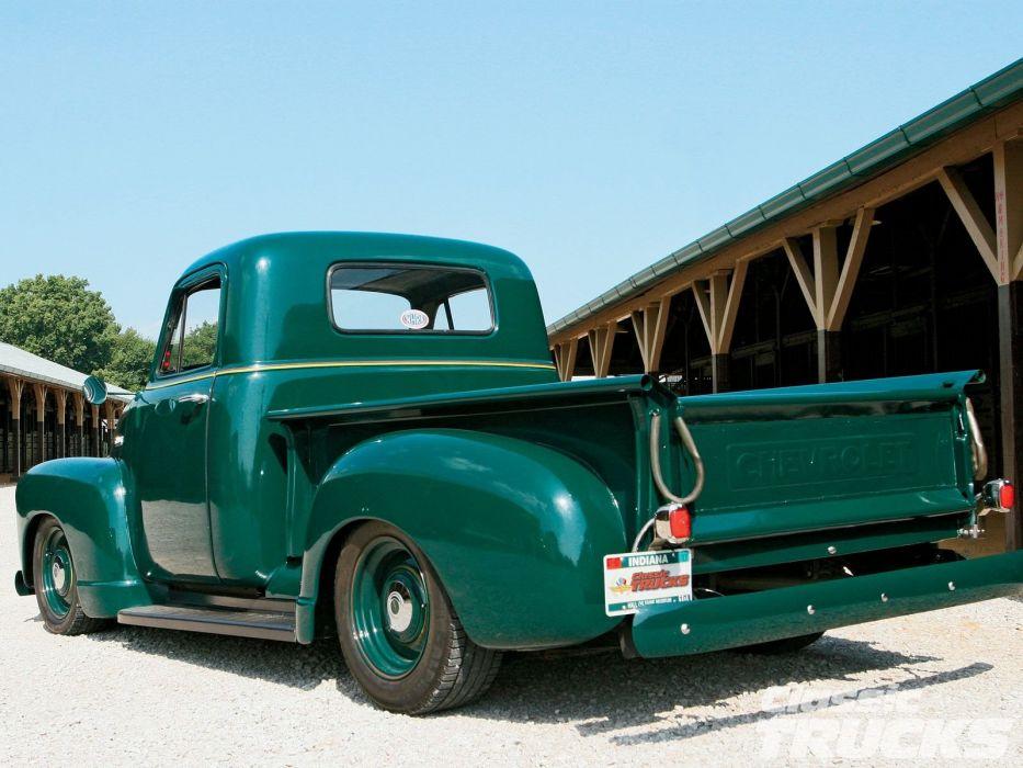1951 Chevrolet 3100 Pickup Hotrod Hot Rod Custom Kustom Old School USA 1600x1200-07 wallpaper