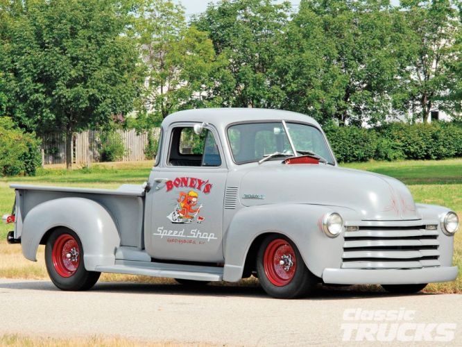 1951 Chevrolet 3100 Pickup Hotrod Hot Rod Custom Kustom Old School USA 1600x1200-06 wallpaper