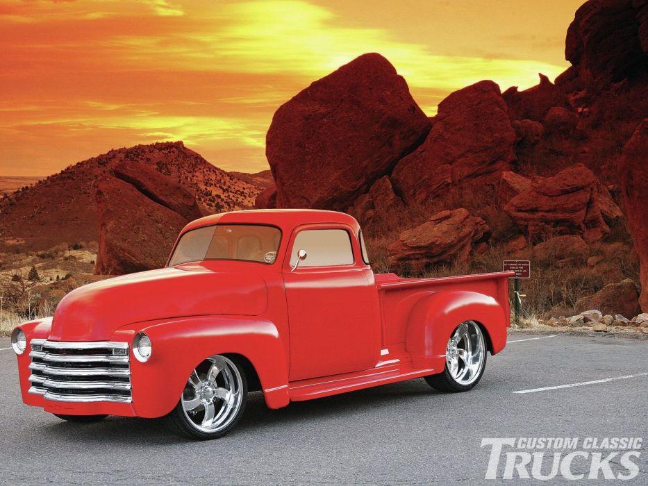 1951 Chevrolet 3100 Pickup Hotrod Streetrod Hot Rod Street USA 1600x1200-03 wallpaper