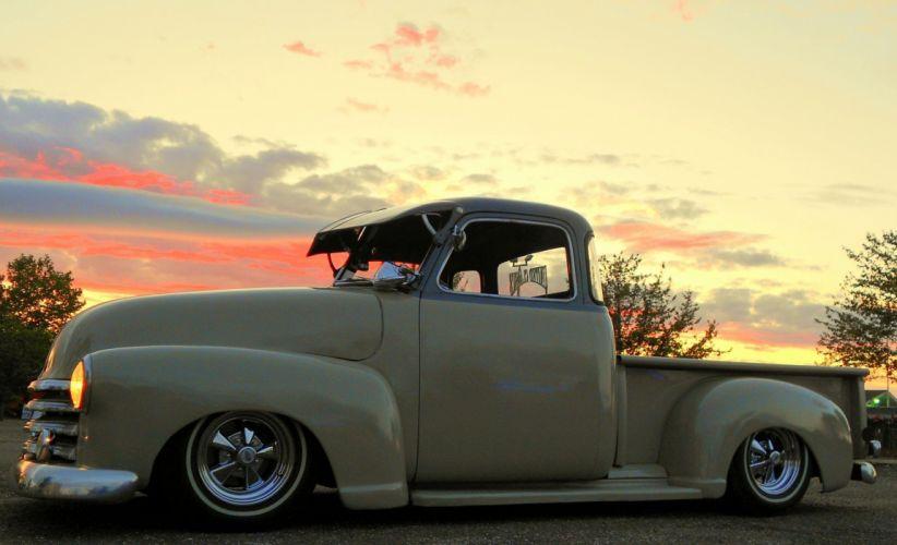 1951 Chevrolet 3100 Pickup Low Rider Lowered Custom USA 2144x1300-01 wallpaper