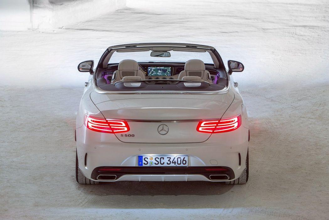 Mercedes Benz S500 Cabriolet AMG Line (A217) cars 2015 wallpaper
