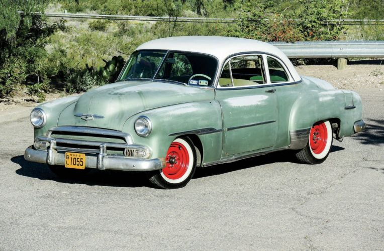 1951 Chevrolet Deluxe Coupe Hotrod Hot Rod Custom Old School USA 2048x1340-01 wallpaper