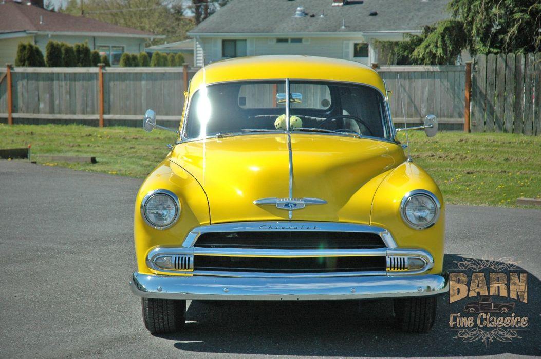 1951 Chevrolet SedanDelivery Hotrod Hot Rod Streetrod Street Yellow USA 1500x1000-01 wallpaper