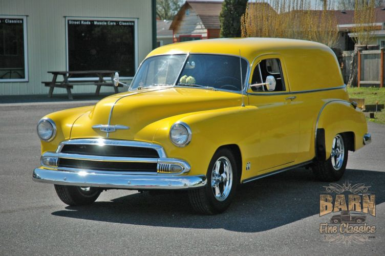 1951 Chevrolet SedanDelivery Hotrod Hot Rod Streetrod Street Yellow USA 1500x1000-02 wallpaper