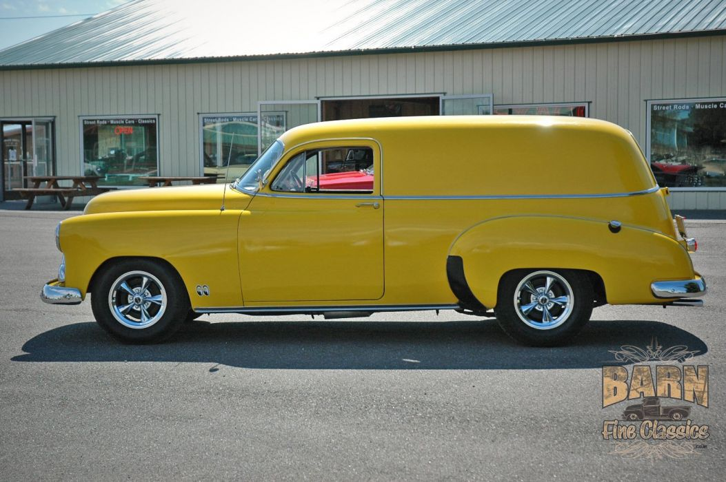 1951 Chevrolet SedanDelivery Hotrod Hot Rod Streetrod Street Yellow USA 1500x1000-04 wallpaper
