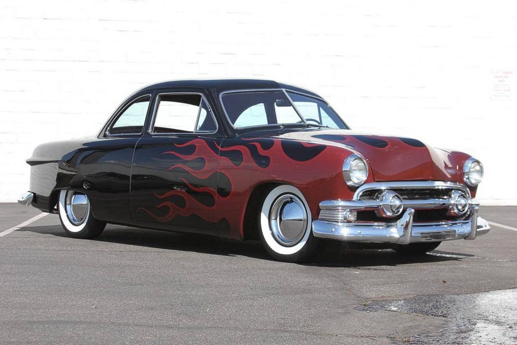 1951 Ford Business Coupe Hotrod Hot Rod Custom Kustom USA 1600x1067-02 wallpaper
