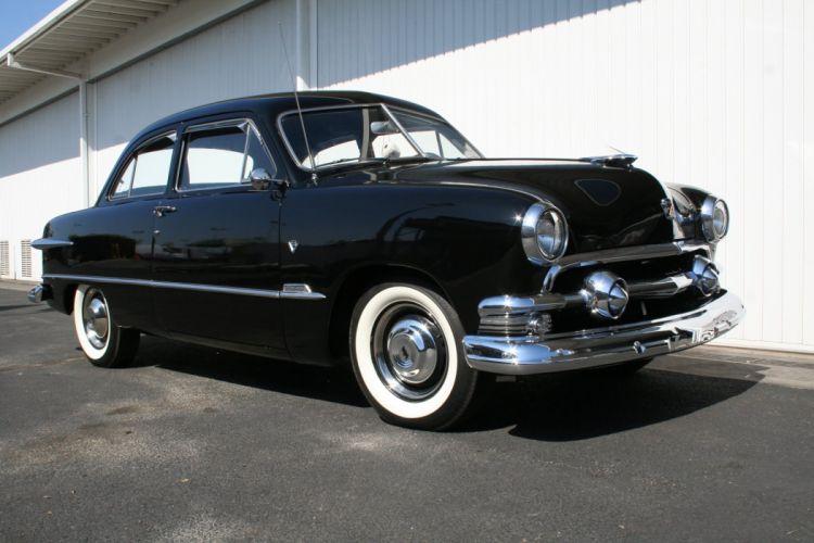 1951 Ford Custom Sedan 2 Door Black Classic Old Vintage USA 1536x1152-04 wallpaper