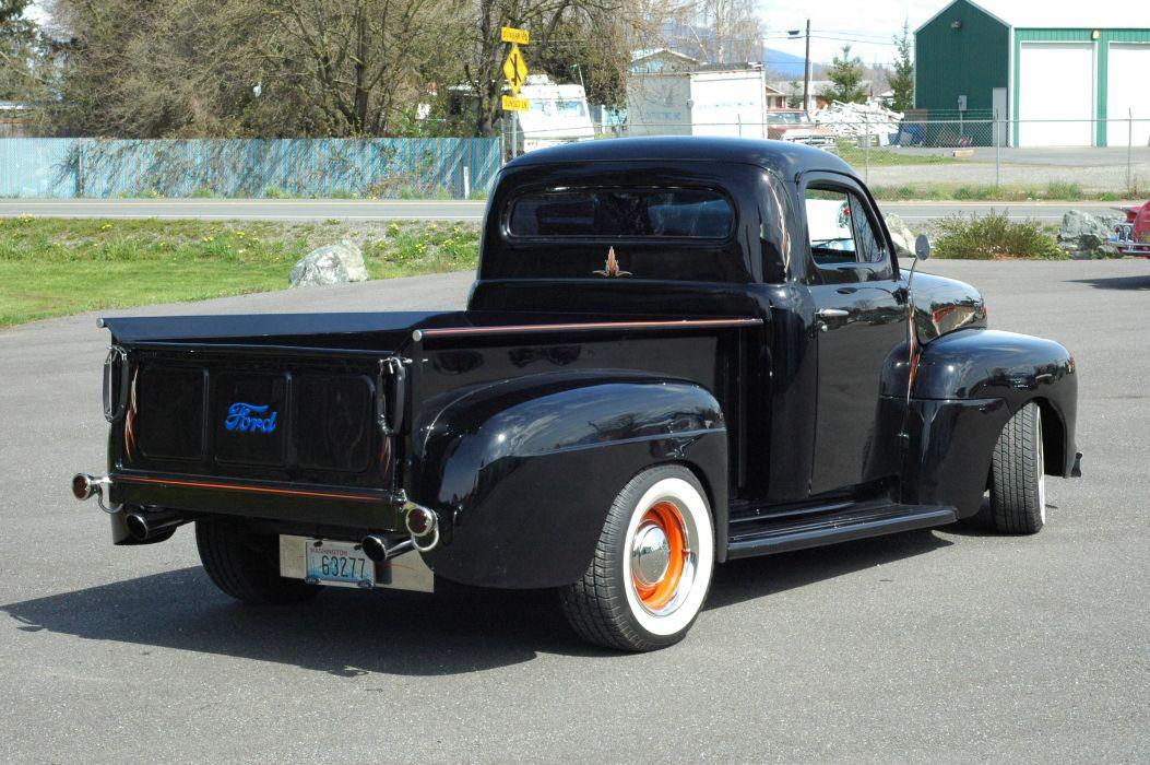 1951 Ford F1 Pickup Chopped Top Hotrod Hot Rod Custoim Kustom Old School USA 1500x1000-04 wallpaper