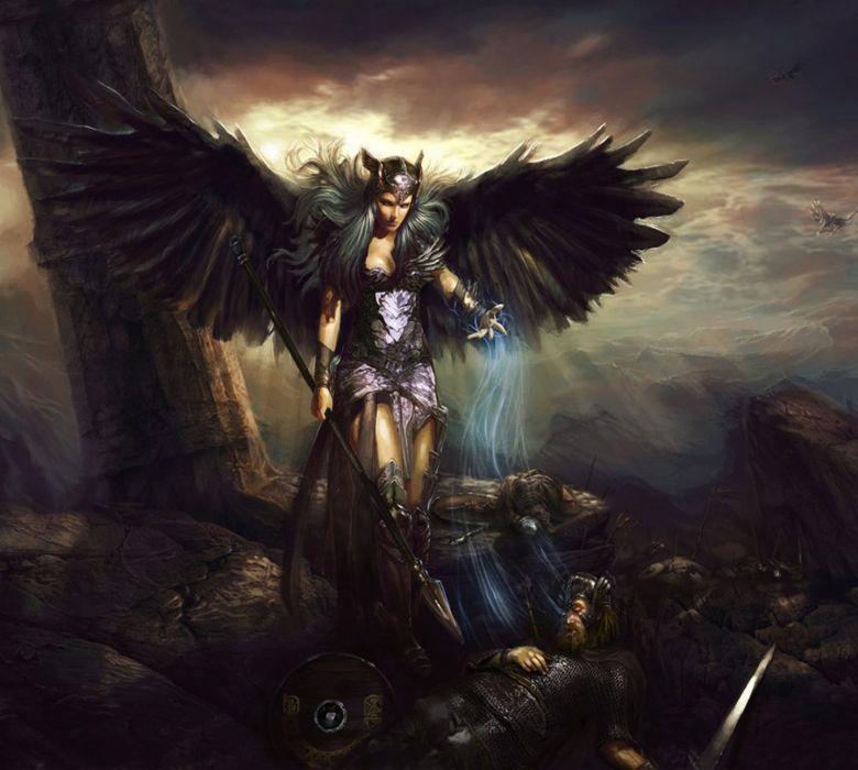wings fantasy girl magic wallpaper