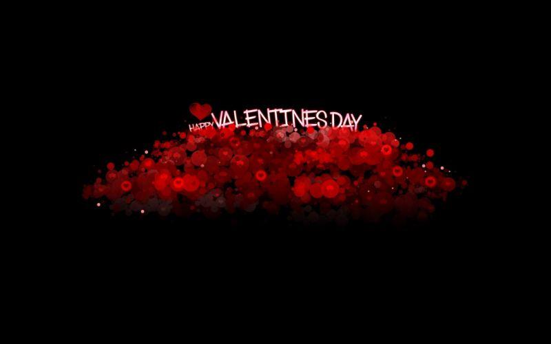 valentines day inscription hearts background black wallpaper