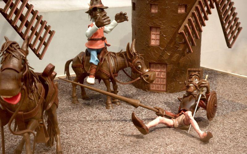 chocolate figures sweet ornament horses horsemen wallpaper