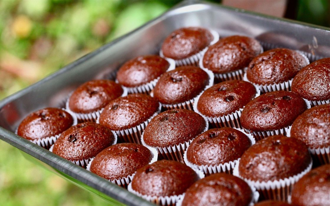 muffins chocolate delicious wallpaper