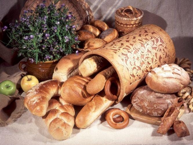 bread rolls shopping eating baking wallpaper