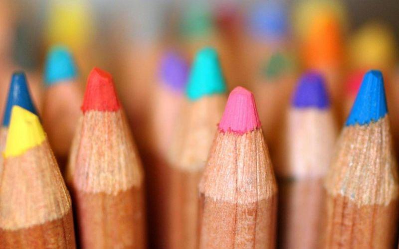 mood pencils colored macro wallpaper
