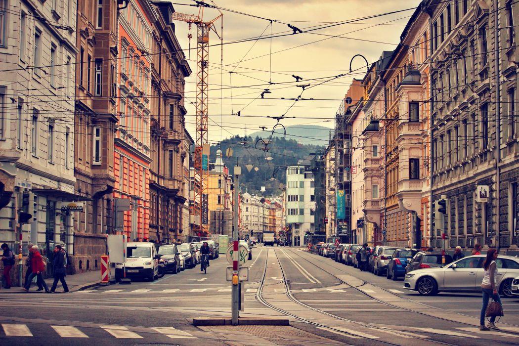 innsbruck austria city architecture street wallpaper