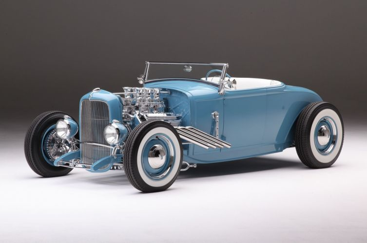 1931 Ford Roadster hot rod cars blue classis wallpaper