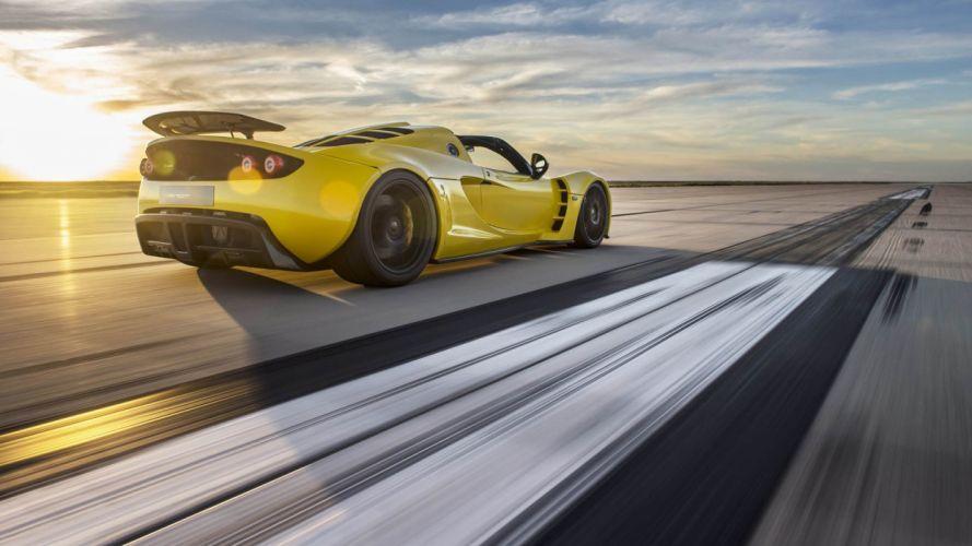 Hennessey Venom GT Spyder cars 2016 wallpaper