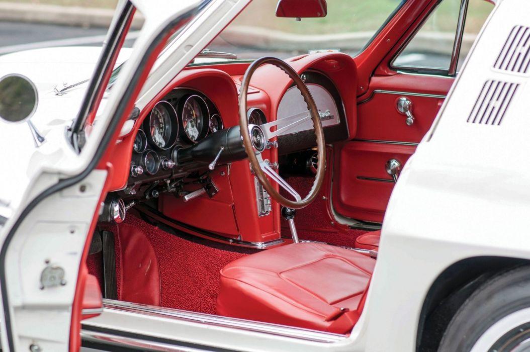 1965 Chevrolet Corvette Sting Ray 327 (c2) cars classic white wallpaper
