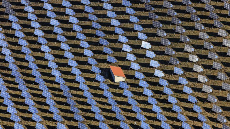 placas solares casa abstracto textura wallpaper