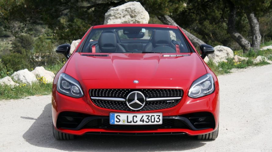 2016 Mercedes AMG SLC 43 cars roadster wallpaper