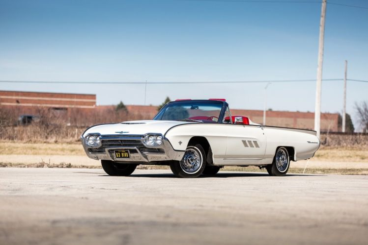 1963 Ford Thunderbird 390 340 HP Sports Roadster white cars classic wallpaper