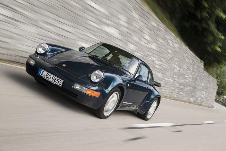 Porsche 911 Turbo Coupe (964) 1990 cars wallpaper