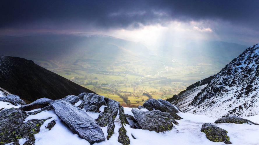 beautiful nature saint john england valley mountains snow wallpaper