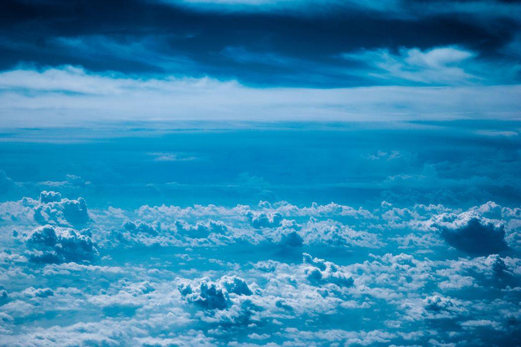 beautiful nature sky clouds blue wallpaper