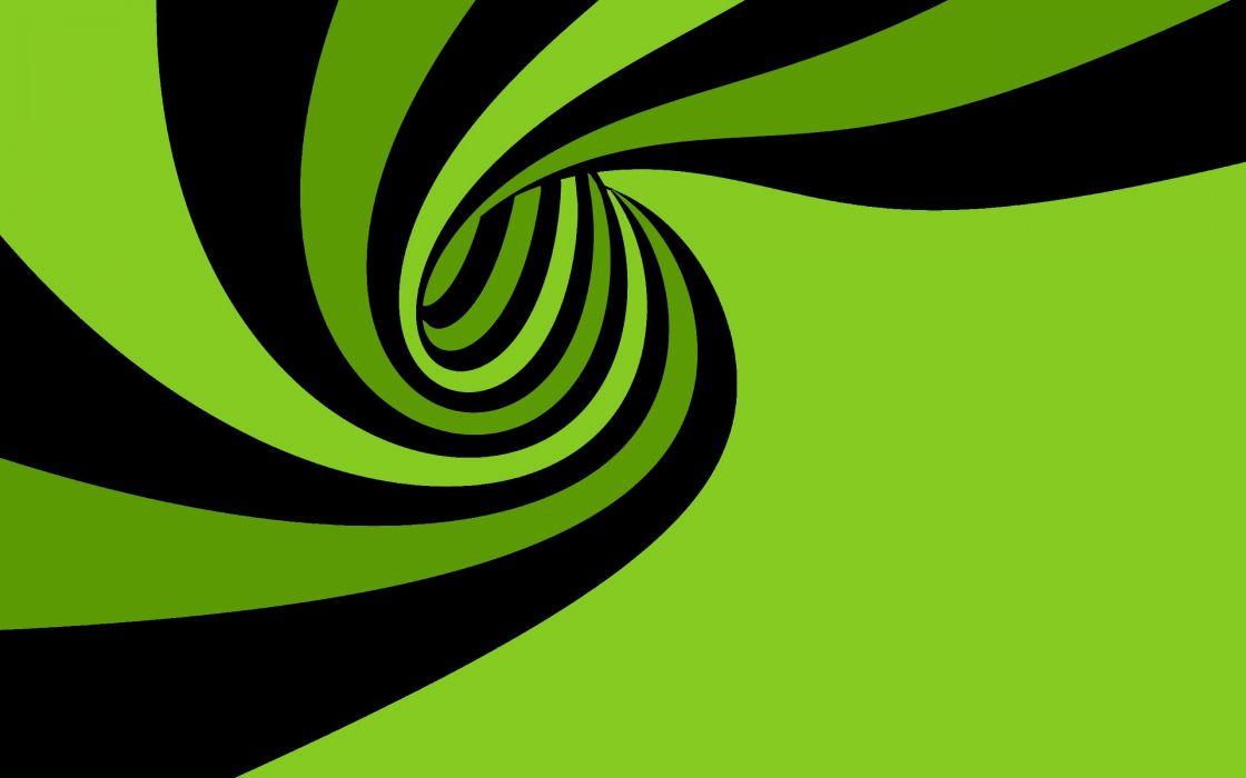 abstracto vector remolino verde negro wallpaper