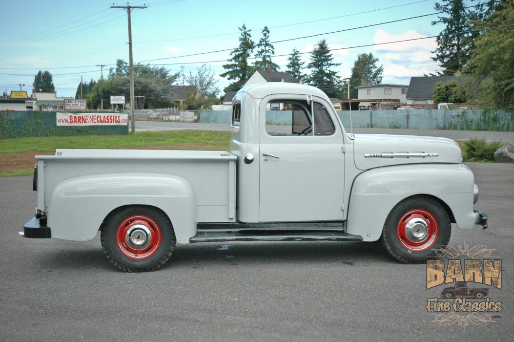 1951 Ford F1 Pickup Classic Old Vintage USA 1500x1000-05 wallpaper