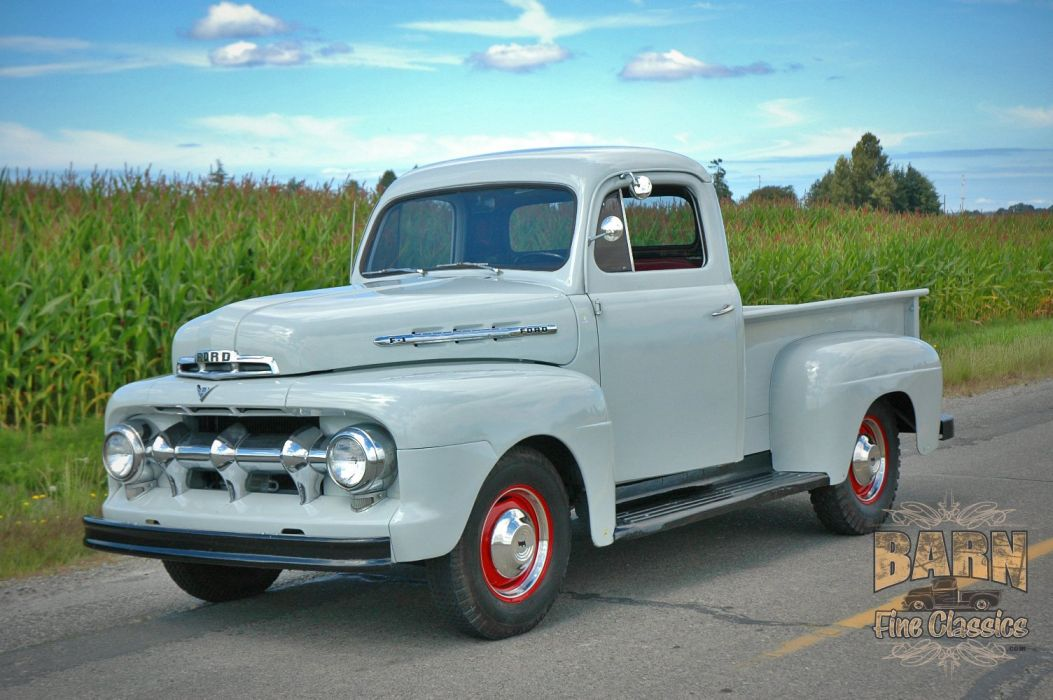 1951 Ford F1 Pickup Classic Old Vintage USA 1500x1000-02 wallpaper