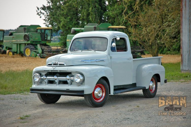 1951 Ford F1 Pickup Classic Old Vintage USA 1500x1000-01 wallpaper