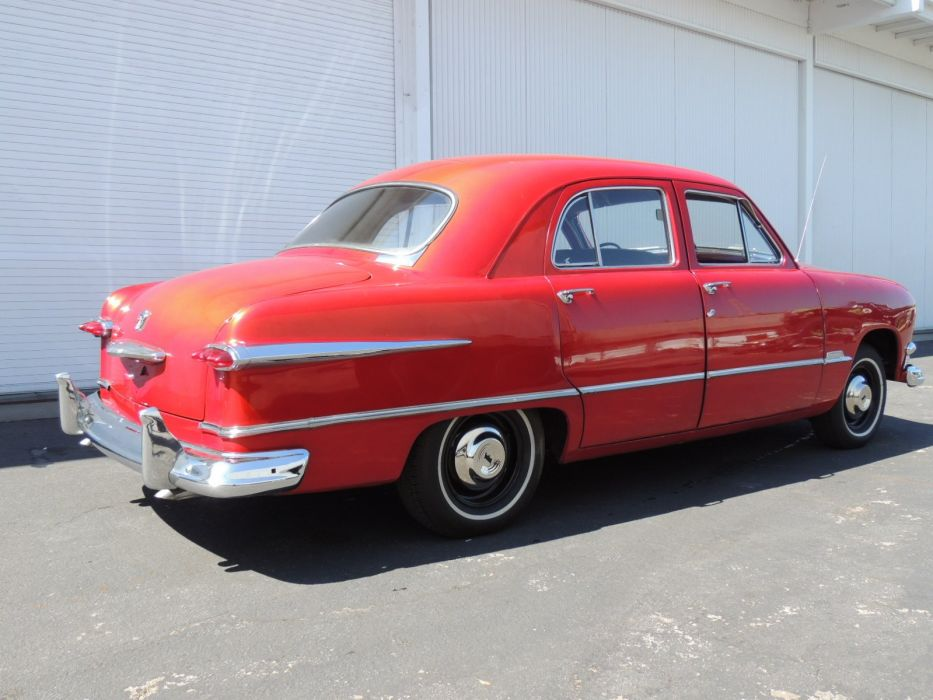 1951 Ford Sedan 4 Door Red Classic OLd Vintage USA 1600x1200-03 wallpaper